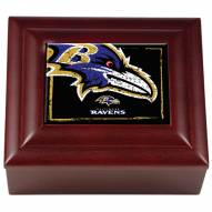 Baltimore Ravens Wood Keepsake Box