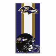 Baltimore Ravens Zone Read Beach Towel