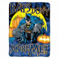 Batman Not Scary Micro Raschel Throw Blanket