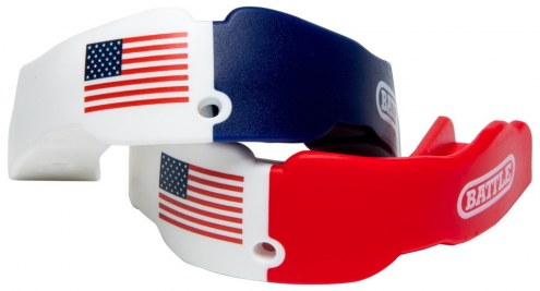 Battle Sports American Flag Mouthguard - 2 Pack
