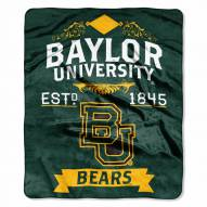 Baylor Bears Label Raschel Throw Blanket