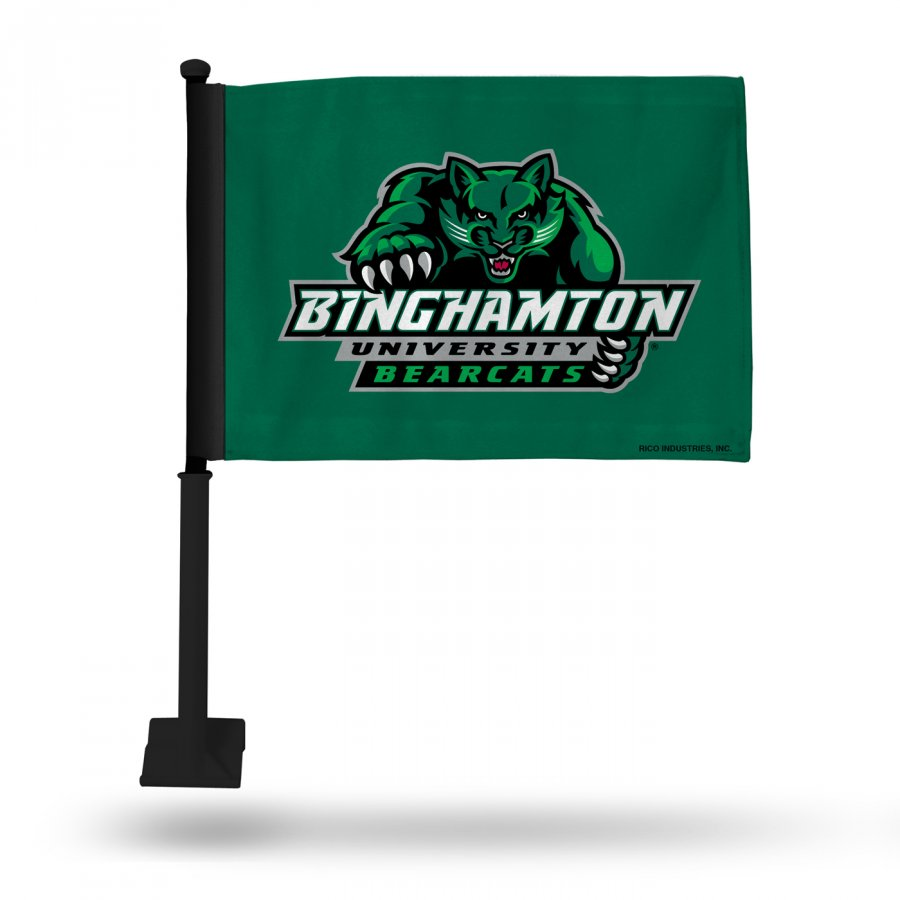 Binghamton Bearcats Car Flag with Black Pole