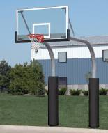 "Bison 5 9/16"" x 8' Mega Duty Twin Glass Playground Basketball Hoop"