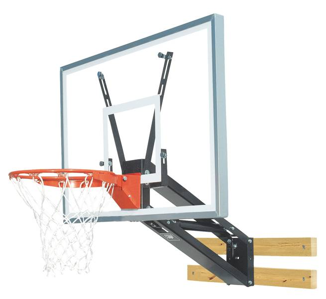 Bison pkg275 quickchange acrylic wall mounted adjustable for Basketball hoop inside garage