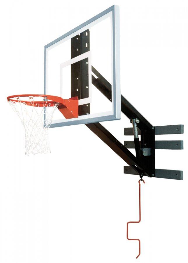- Bison PKG300 ZipCrank Wall Mounted Adjustable Basketball Hoop