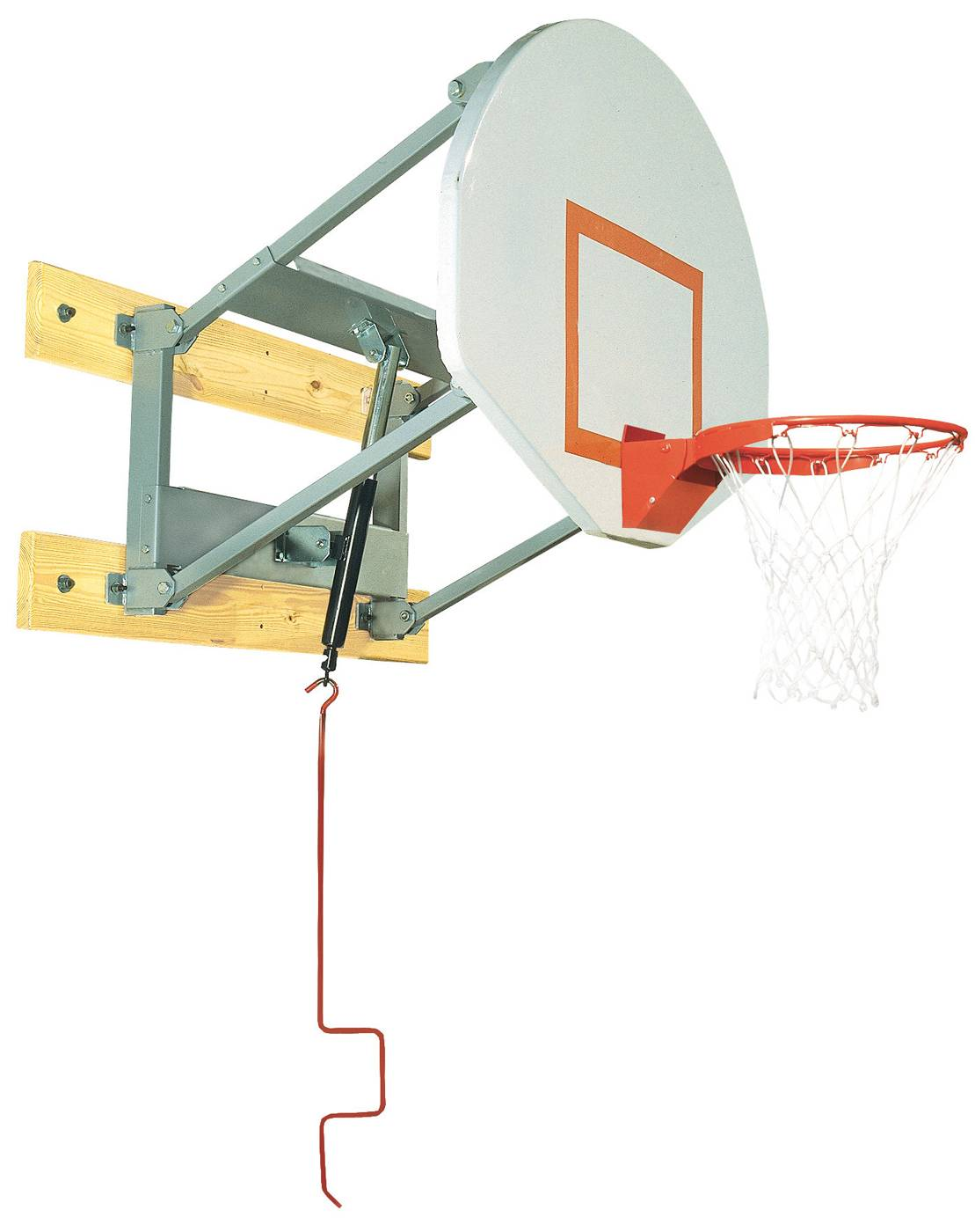 The Bison PKG600 Wall Mounted Adjustable Basketball Hoop Features A Easy  Adjustability And Can Be Mounted To A Vertical Wall. This Wall Mount Hoop  Adjusts ...