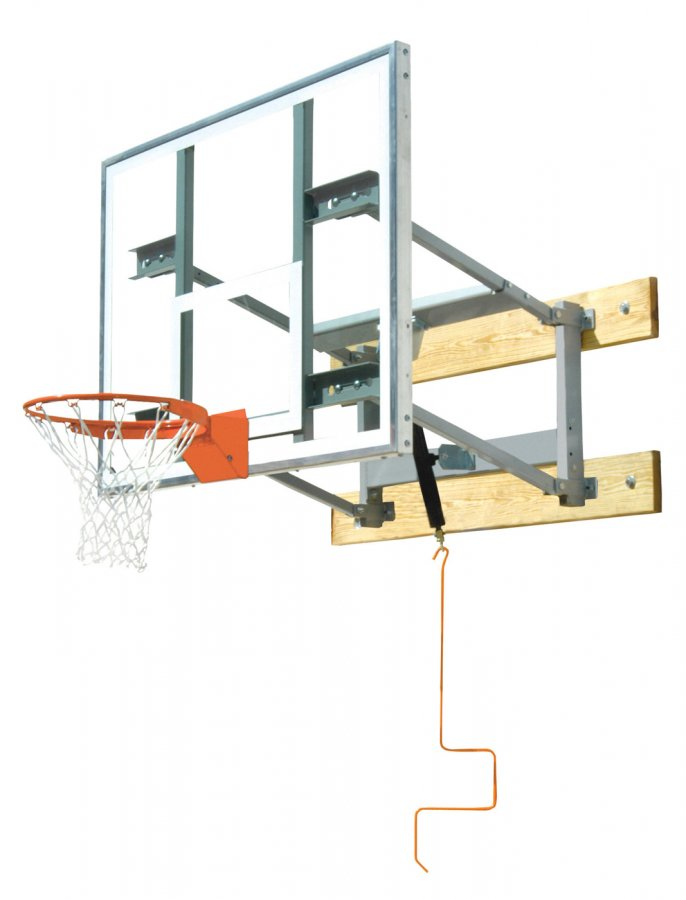 Bison PKG650 Glass Shooting Station Wall Mounted Adjustable Basketball Hoop - Bison PKG650 Glass Shooting Station Wall Mounted Adjustable