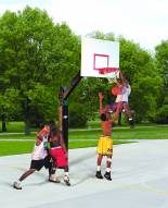 "Bison Ultimate Official 72"" x 42"" Steel Basketball Hoop"