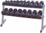 Body Solid 2 Tier Horizontal Dumbbell Rack