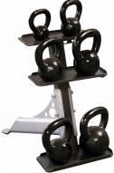 Body Solid 3-Pair Upright Kettlebell Rack