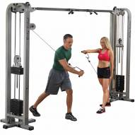 Body Solid Pro Clubline Cable Crossover Machine - 2x 235 lb Stacks