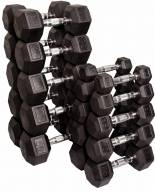 Body Solid Rubber Hex Dumbell Set - 5-50 lb pairs