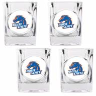 Boise State Broncos 4 Piece Square Shot Glasses