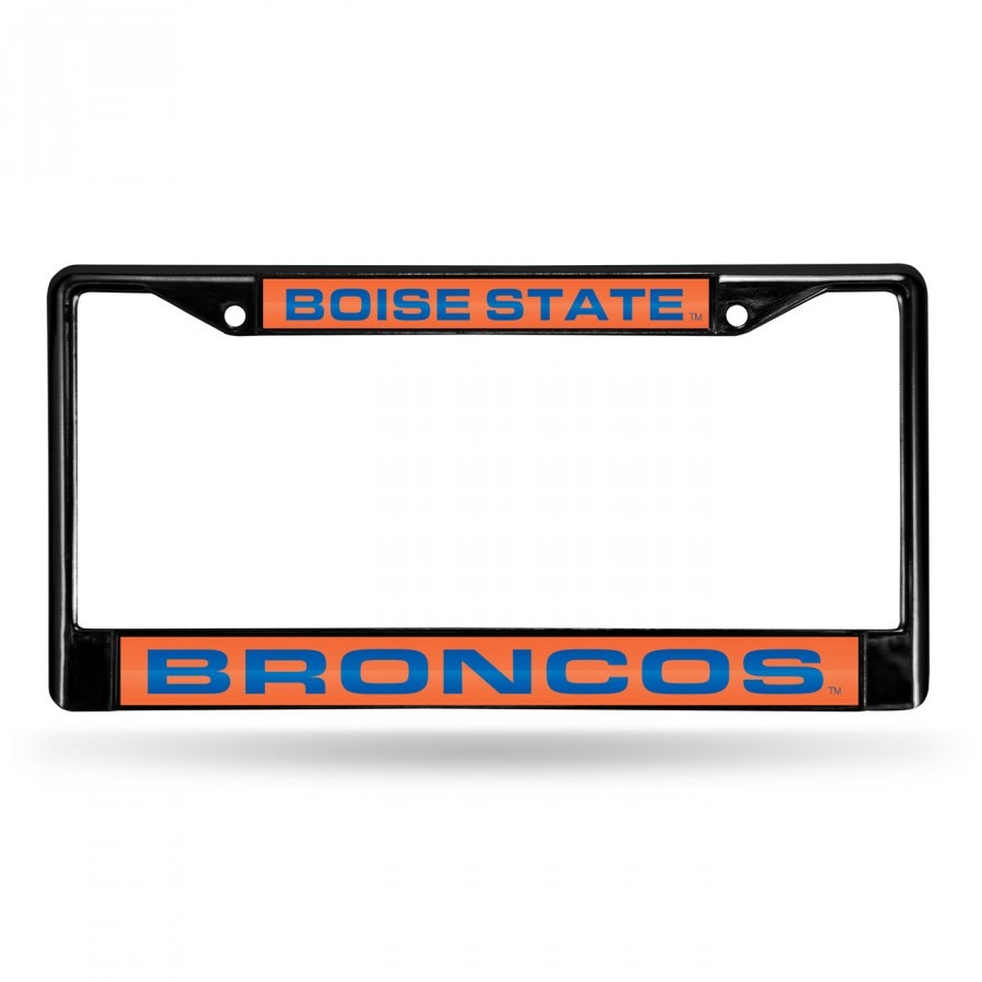 Boise State Broncos Laser Black License Plate Frame