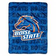 Boise State Broncos Micro Grunge Blanket