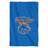 Boise State Broncos Script Sweatshirt Throw Blanket