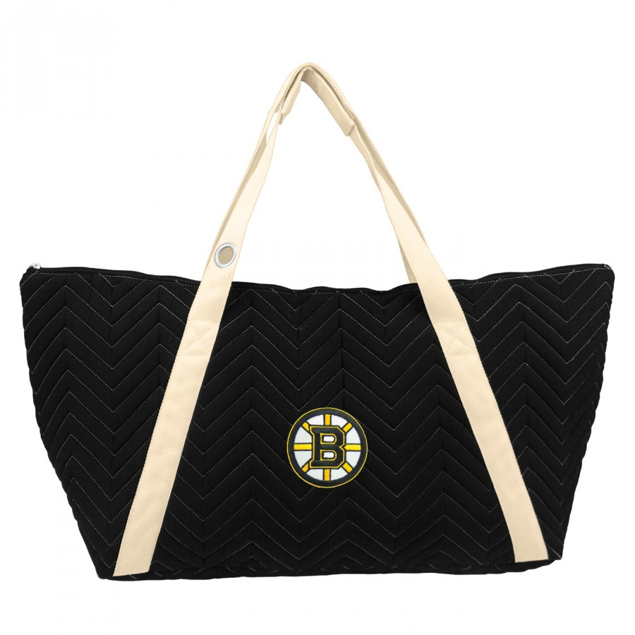 Boston Bruins Chevron Stitch Weekender Bag