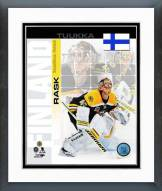 Boston Bruins Tuukka Rask Finland Portrait Plus Framed Photo