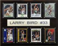 "Boston Celtics 12"" x 15"" Larry Bird 8 Card Plaque"