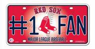 Boston Red Sox #1 Fan License Plate