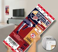Boston Red Sox 2007 World Series Mega Ticket Canvas Art