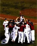 "Boston Red Sox 2013 WS Celebration Signed 16"" x 20"" Photo"