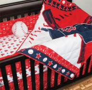 Boston Red Sox Baby Crib Set