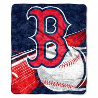Boston Red Sox Big Stick Sherpa Blanket