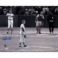 """Boston Red Sox Carlton Fisk """"1975 WS Wave"""" Signed 16"""" x 20"""" Photo"""