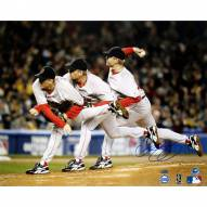 """Boston Red Sox Curt Schilling Triple Exposure Signed 16"""" x 20"""" Photo"""