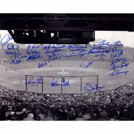 "Boston Red Sox ""Fenway Park"" Fisk/Evans/Lonborg/George Scott/Lansford/Barrett Signed 16"" x 20"" Photo"