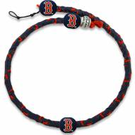 Boston Red Sox Frozen Rope Color Baseball Necklace