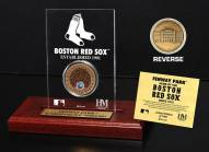 Boston Red Sox Infield Dirt Etched Acrylic