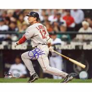 """Boston Red Sox Jed Lowrie 2008 Road Batting Signed 16"""" x 20"""" Photo"""