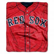 Boston Red Sox Jersey Raschel Throw Blanket