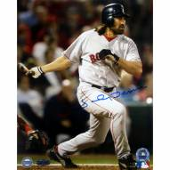 """Boston Red Sox Johnny Damon 2004 WS Game 4 HR Signed 16"""" x 20"""" Photo"""