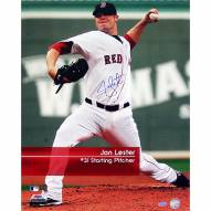 """Boston Red Sox Jon Lester """"Feel The Game"""" Signed 16"""" x 20"""" Photo"""