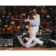 "Boston Red Sox Manny Ramirez 2007 World Series Swing Signed 16"" x 20"" Photo"