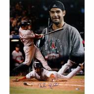"""Boston Red Sox Mike Lowell 2007 World Series MVP Signed 16"""" x 20"""" Photo"""