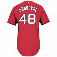 Boston Red Sox Pablo Sandoval Authentic Home Batting Practice Baseball Jersey