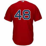 Boston Red Sox Pablo Sandoval Replica Number Only Scarlet Alternate Baseball Jersey