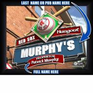 Boston Red Sox Personalized Framed Sports Pub Print