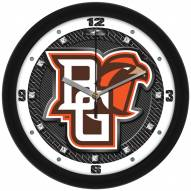 Bowling Green State Falcons Carbon Fiber Wall Clock