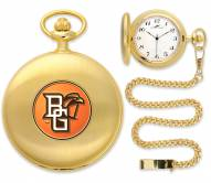 Bowling Green State Falcons Pocket Watch - Gold