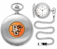 Bowling Green State Falcons Pocket Watch - Silver