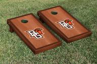 Bowling Green State Falcons Rosewood Stained Border Cornhole Game Set