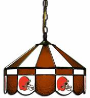 """Cleveland Browns NFL Team 16"""" Diameter Stained Glass Pub Light"""