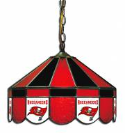 "Tampa Bay Buccaneers NFL Team 16"" Diameter Stained Glass Pub Light"