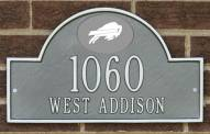 Buffalo Bills NFL Personalized Address Plaque - Pewter Silver