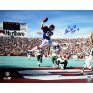 "Buffalo Bills Andre Reed Horizontal Jump In Endzone w/""HOF 14"" Signed 16"" x 20"" Photo"